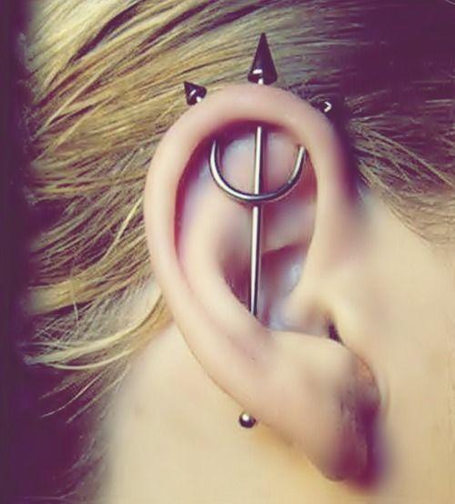perforaciones en las orejas 3 Ideas para Perforaciones en la Oreja