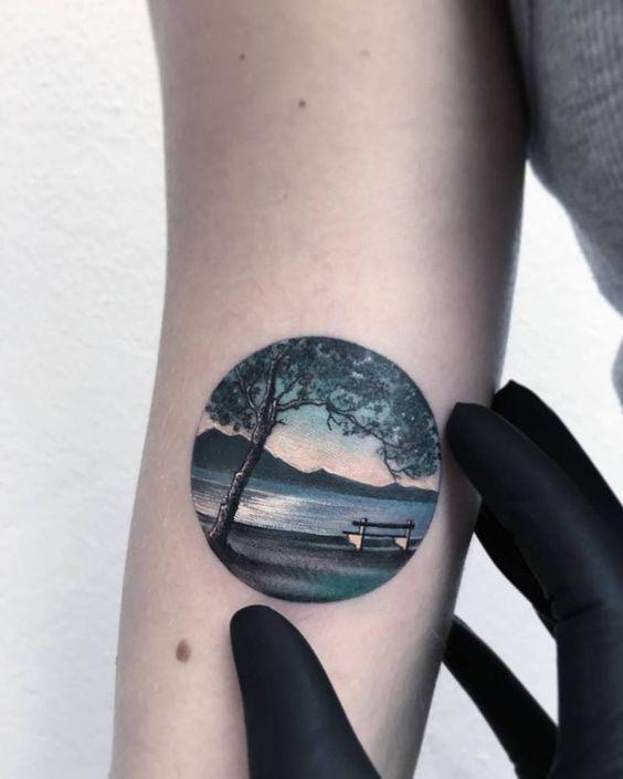 Resultado de imagen para tatuajes paisajes girl pinterest