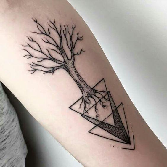 Los mejores dise os de tatuajes para hombres tatuajes para mujeres y hombres - Tatouage 3 points en triangle ...