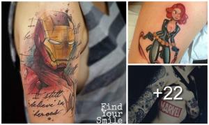 24 Increíbles Tatuajes de Marvel y sus Super Héroes