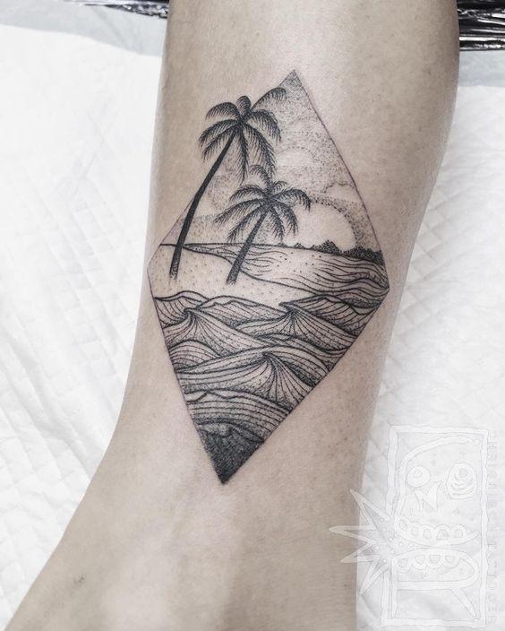 30 Hermosos Tatuajes Inspirados en la Playa y el Mar