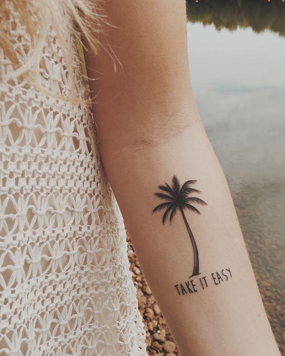 Interesantes Tatuajes de Palmeras y su Significado