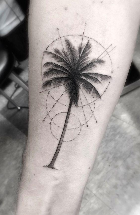 Interesantes Tatuajes De Palmeras Y Su Significado Tatuajes Para