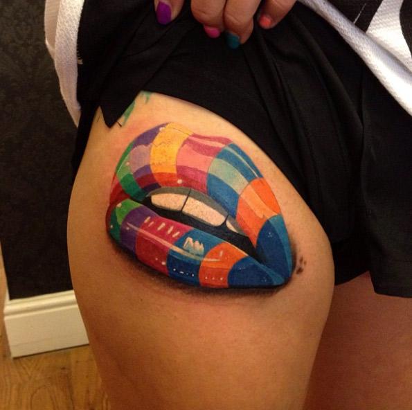 Tatuajes de Besos y Labios Para Mujeres y Hombres
