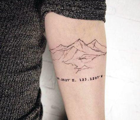 Ideas de Tatuajes de Coordenadas para Recordar Lugares