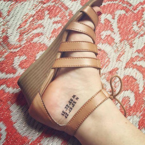Tatuajes de coordenadas 16 Ideas de Tatuajes con Coordenadas