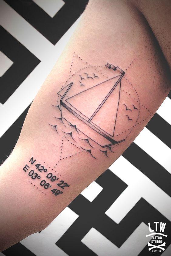 Tatuajes de coordenadas 23 Ideas de Tatuajes con Coordenadas