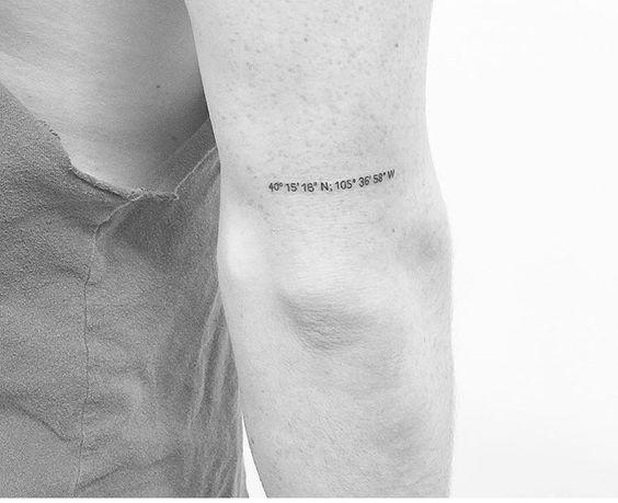 Tatuajes de coordenadas 24 Ideas de Tatuajes con Coordenadas