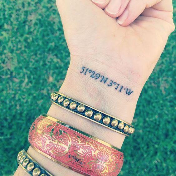 Tatuajes de coordenadas 9 Ideas de Tatuajes con Coordenadas