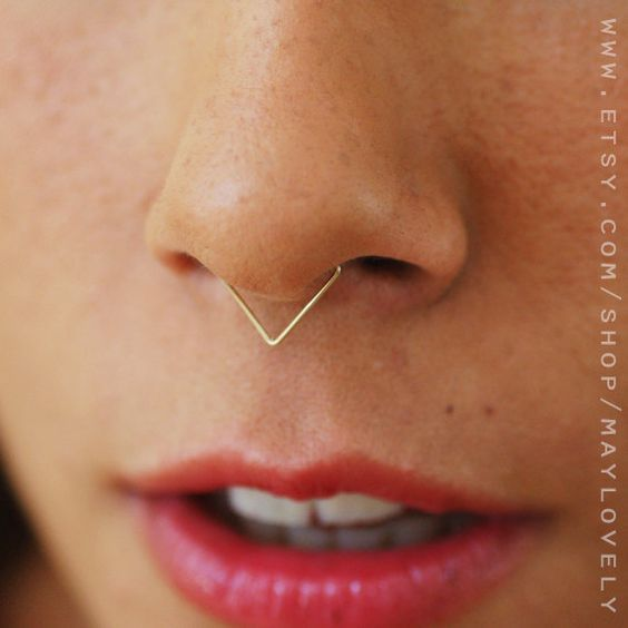 20 Ideas de Perforaciones y Piercings para la Nariz