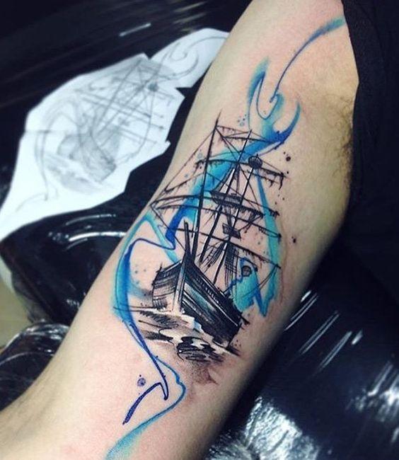 Ideas De Tatuajes De Barcos Para Los Amantes Del Mar Tatuajes Para