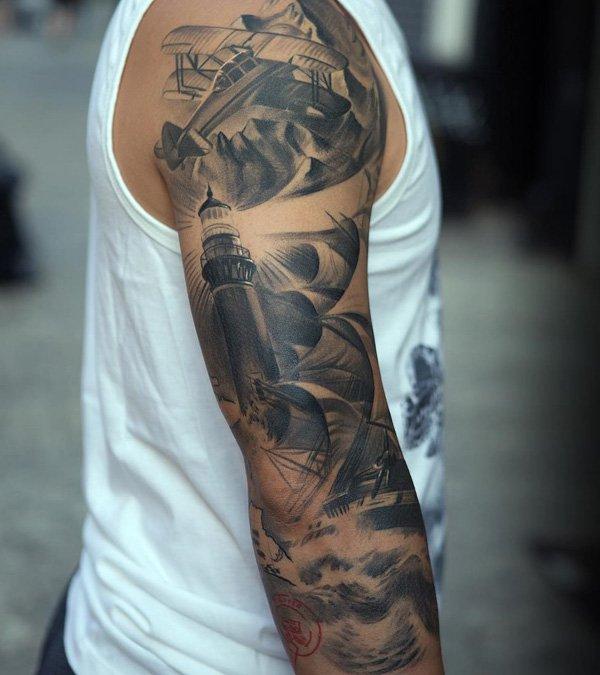 tatuajes de barcos 18 Tatuajes de Barcos