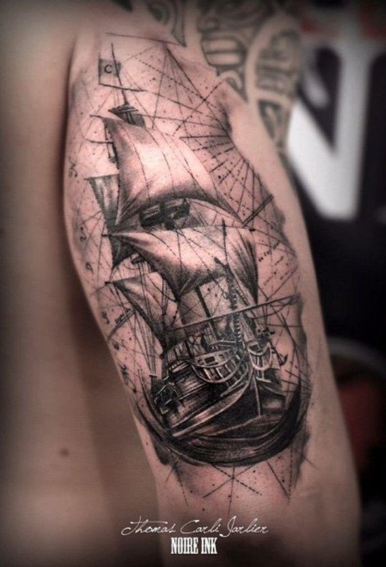 tatuajes de barcos 24 Tatuajes de Barcos