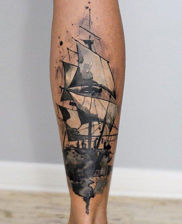 tatuajes de barcos 28 Tatuajes de Barcos