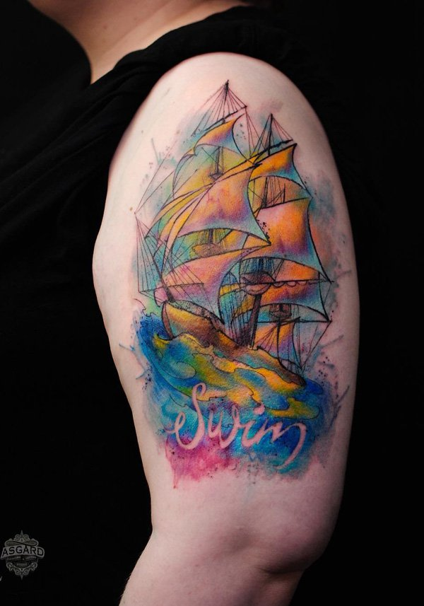 tatuajes de barcos 29 Tatuajes de Barcos
