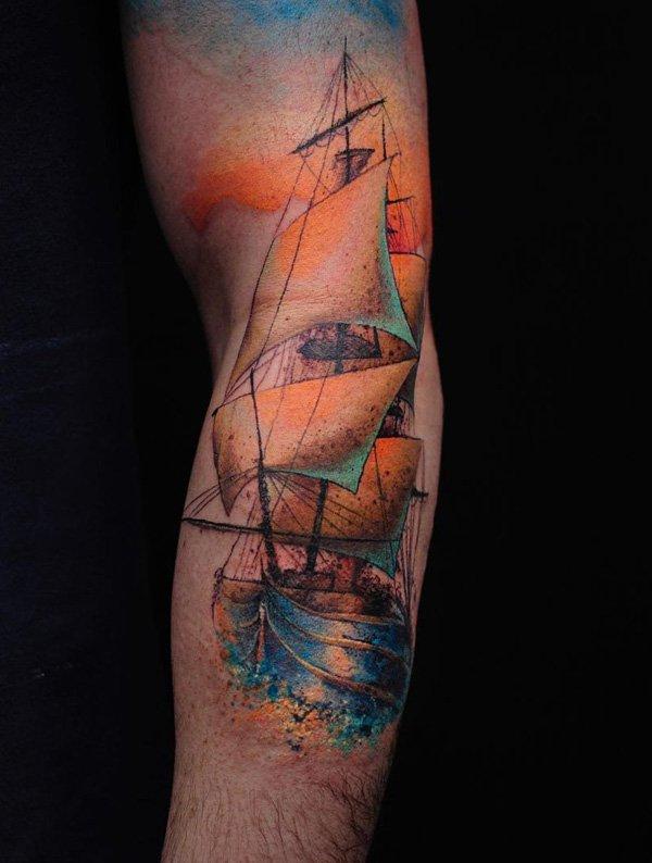 tatuajes de barcos 31 Tatuajes de Barcos