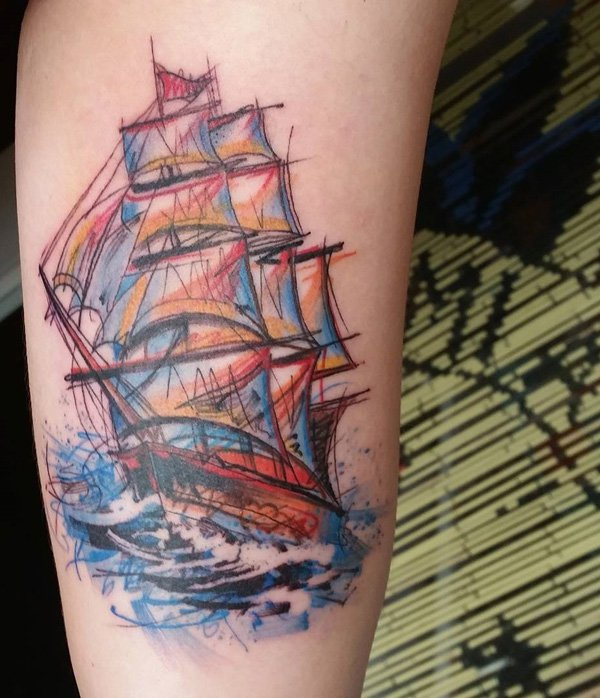 tatuajes de barcos 32 Tatuajes de Barcos