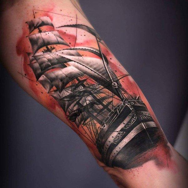 tatuajes de barcos 36 Tatuajes de Barcos