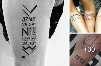 Tatuajes de Coordenadas