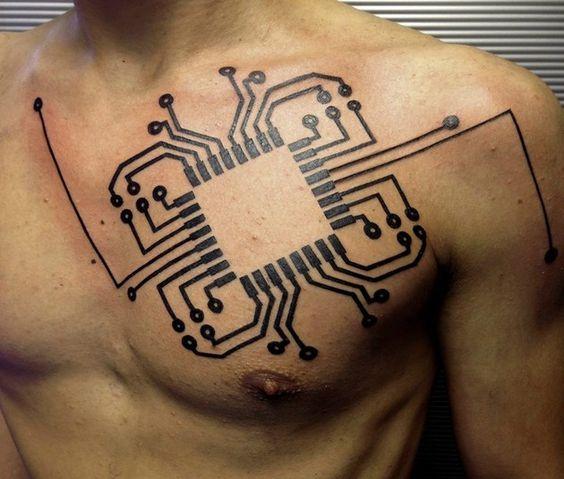 Ideas de Tatuajes Inspirados en la Tecnología y el modernismo