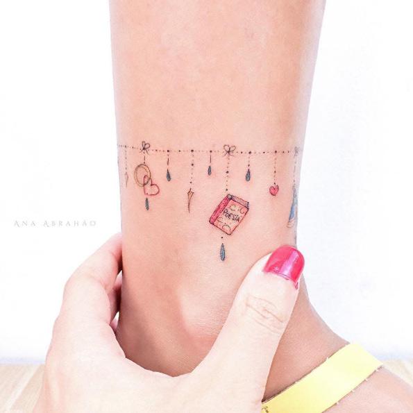 26 4 Tatuajes de Pulsera en el Tobillo