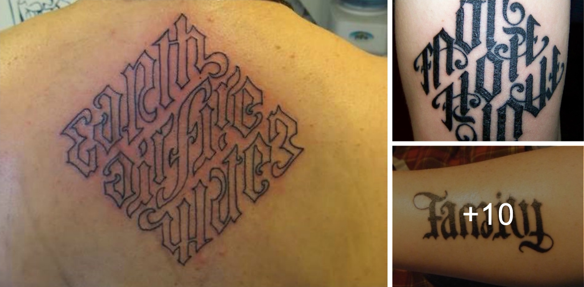 Sorprendentes Tatuajes de Ambigramas