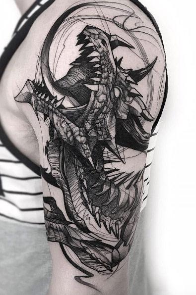 Increibles Tatuajes Estilo Boceto o Bosquejo