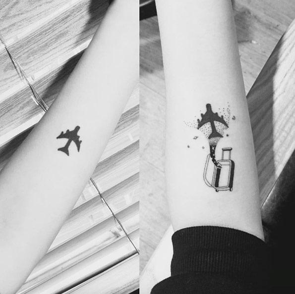 cute travel tattoo Tatuajes Inspirados en Viajes o Destinos