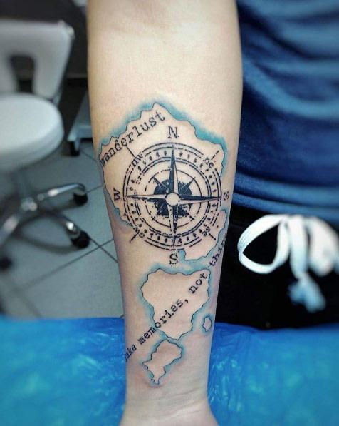 fantastic travel tattoo design Tatuajes Inspirados en Viajes o Destinos
