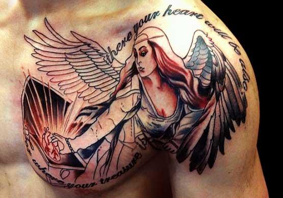 Celestiales Tatuajes de Angeles para H&M