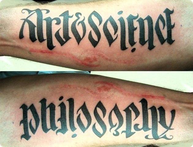 tatuajes ambigramas 3 Tatuajes de Ambigramas