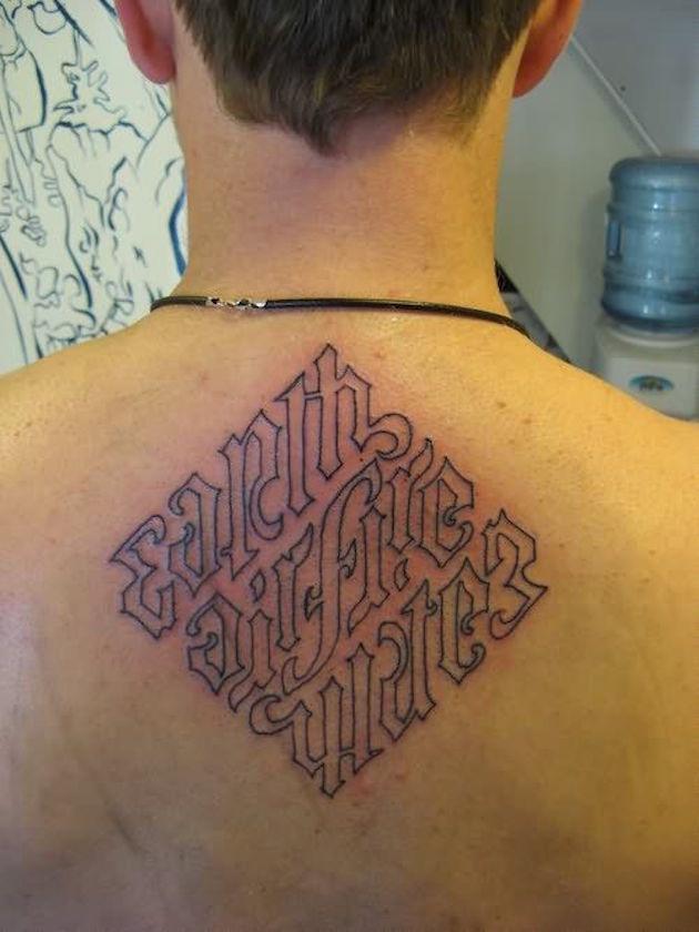 tatuajes ambigramas 5 Tatuajes de Ambigramas