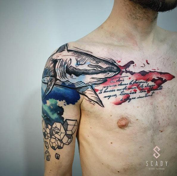 tatuajes de tiburones 8 Fantásticos Tatuajes de Tiburones