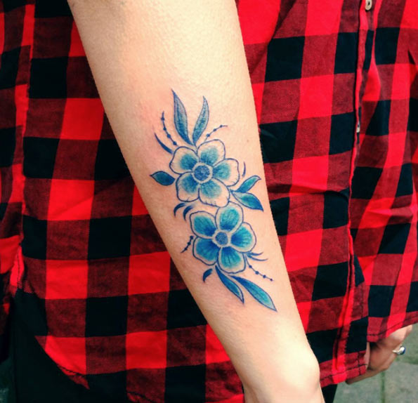 tatuajes en tinta azul 6 Tatuajes con Tinta Azul