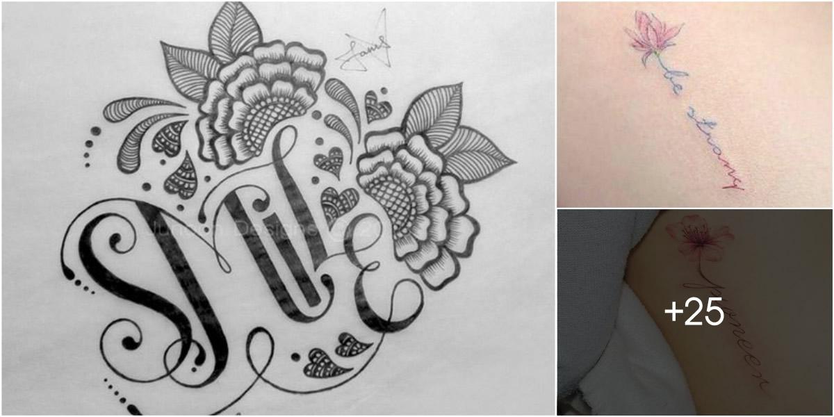 Tatuajes de Flores y Nombres