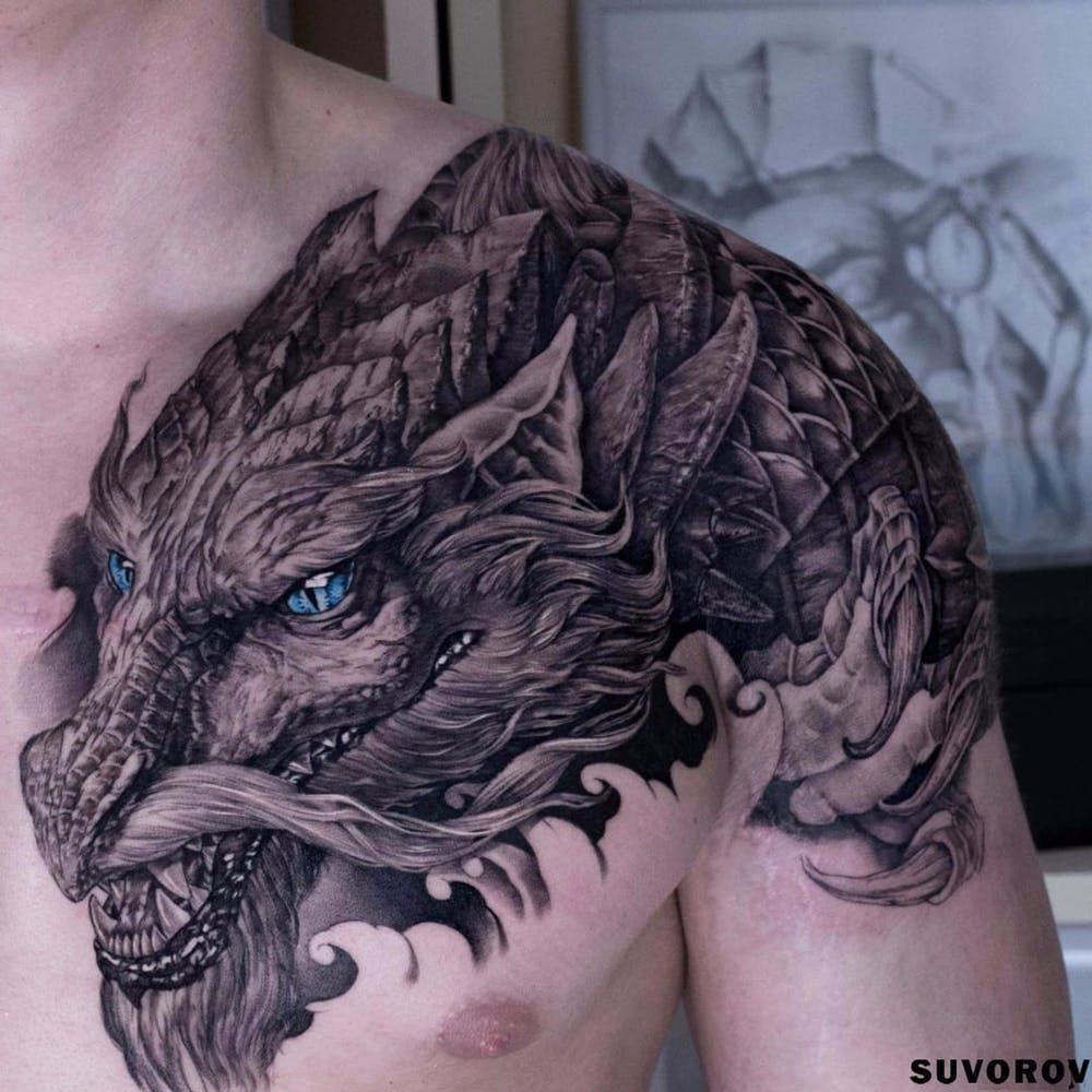 10 Tatuajes De Dragones Imponentes Tattoo Arte