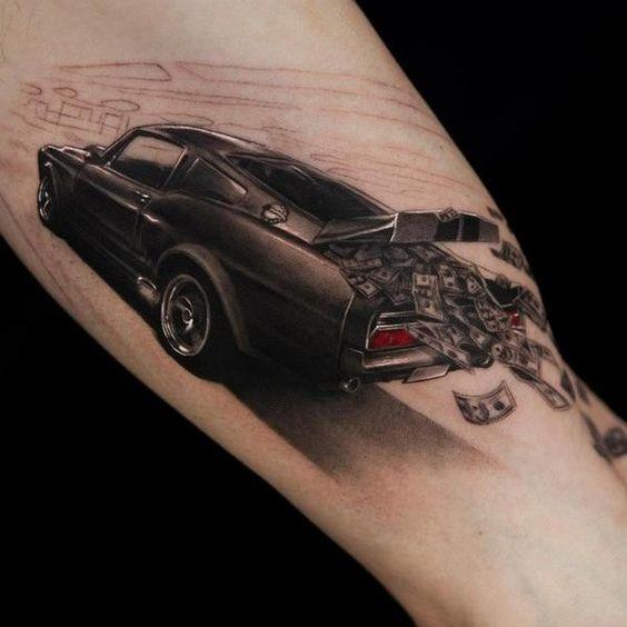 tatuajes de autos 14 Tatuajes de Autos